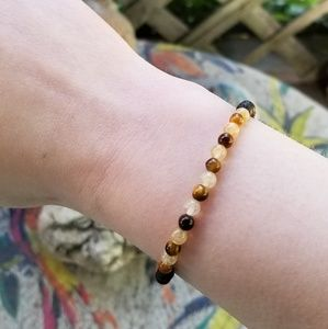 Jewelry - HAND MADE TIGER EYE AND CITRINE BRACELET